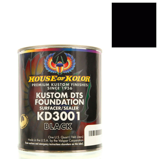 Black - Custom Dts Foundation Surfacer Sealer Epoxy Primer, 1 Gallon House of Kolor
