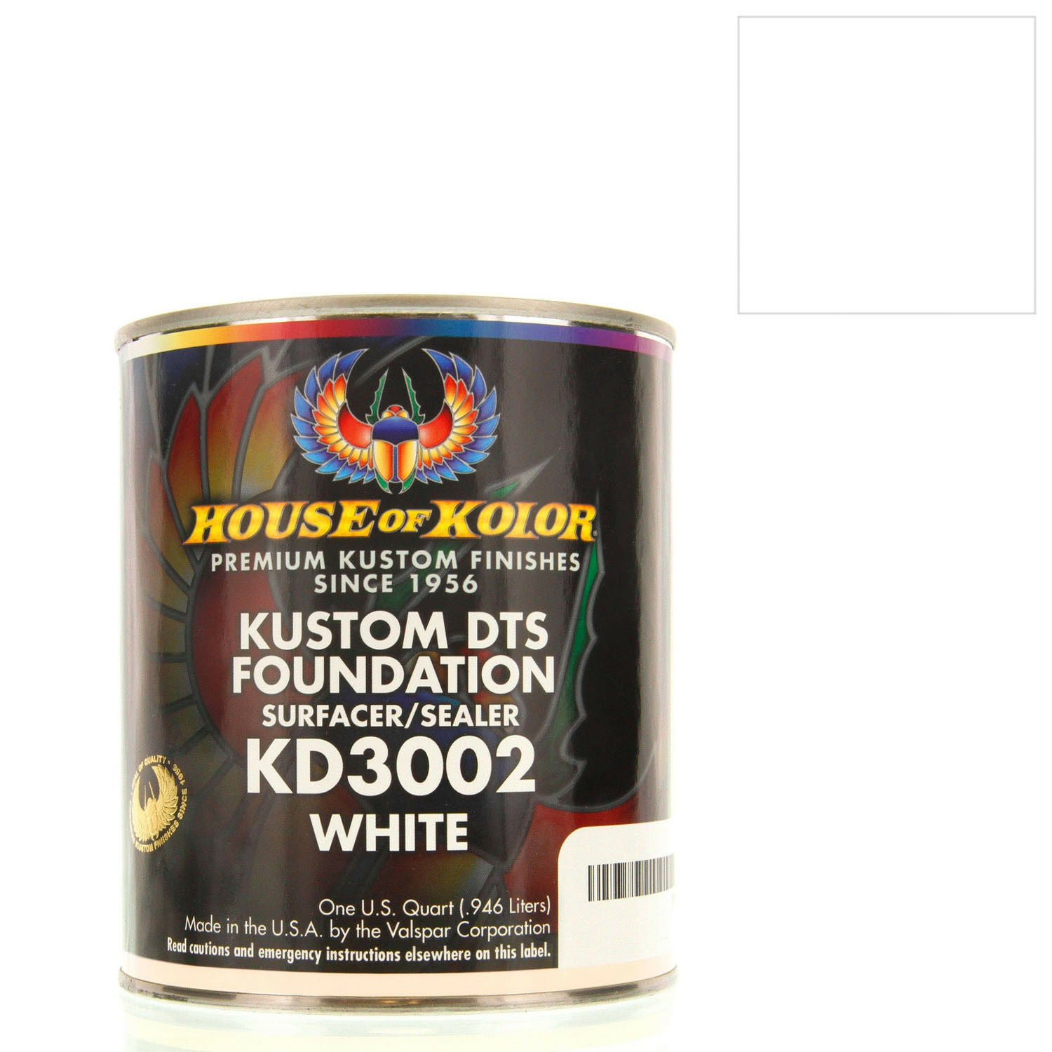 White - Custom Dts Foundation Surfacer Sealer Epoxy Primer, 1 Gallon House of Kolor