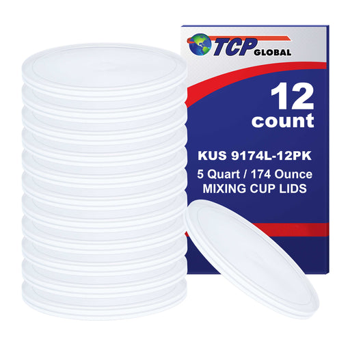 Lid for 5 Quart Paint Mixing Cups, Plastic (12/Pack)