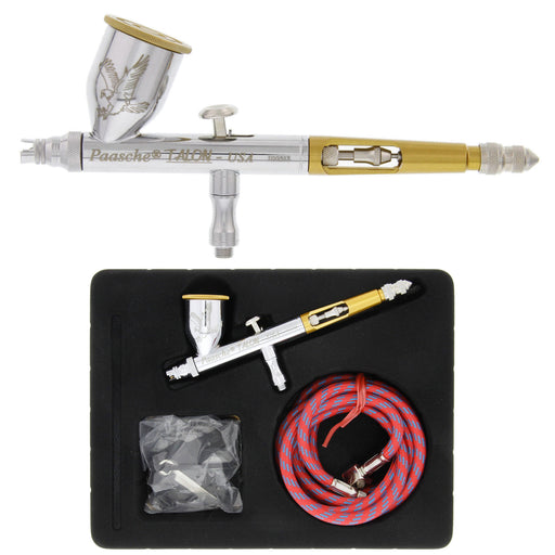 Tg Talon Dual-Action Gravity Feed Airbrush Set with Multiple tips & Bottles