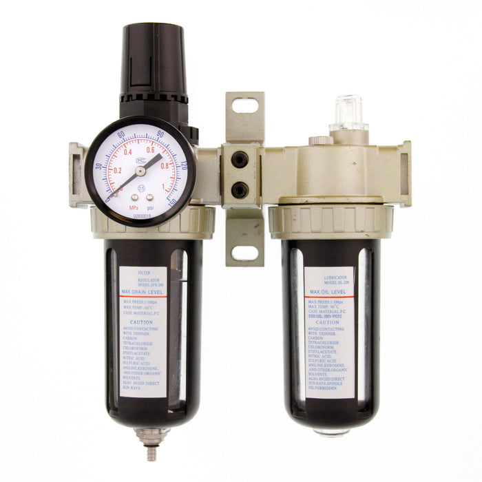 "Professional Air Filter, Regulator and Lubricator Control Unit (1/4"" NPT)"