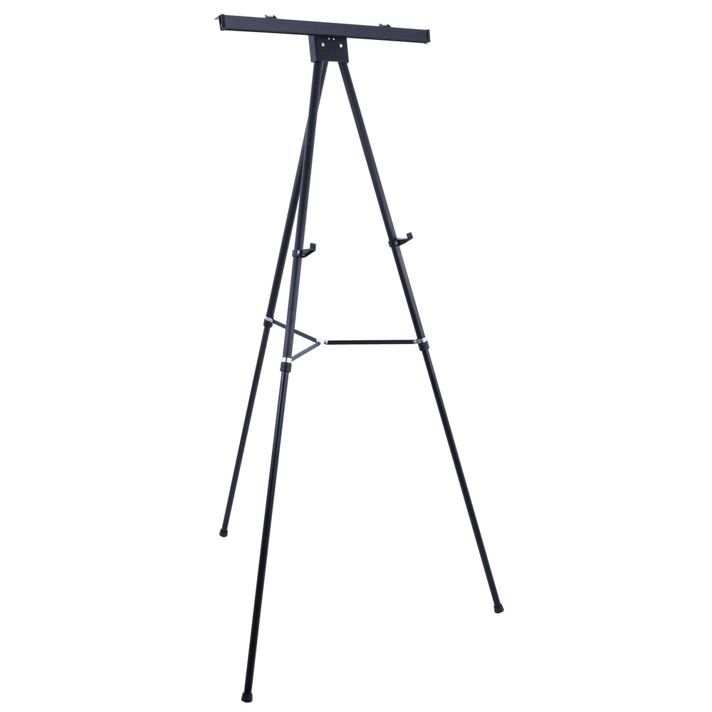 "70"" High Boardroom XL Black Aluminum Flipchart Display Easel, Holds 45 lb - Heavy Duty Extra Large and Presentation Stand Adjustable Floor and Tabletop Portable Tripod, For Writing Pad"