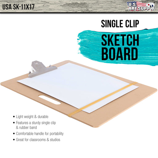 "Artist Sketch Tote Board - Great for Classroom, Studio or Field Use (11""x17"")"