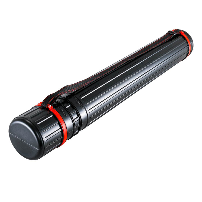 "Black Telescoping Drafting Tube - Outside Diameter: 3-1/4"", Inside Diameter: 2-7/8"" inch, Length: 25 to 42-1/2 inches"