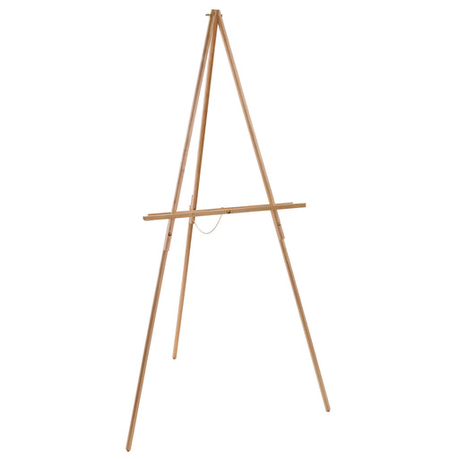 "64"" High Torrey Wooden A-Frame Tripod Studio Artist Floor Easel - Adjustable Tray Height, Holds 40"" Canvas - Wood Display Holder Stand for Paintings, Drawings, Framed Photos, Signs"