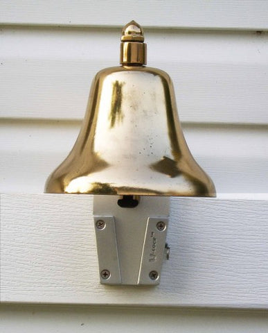 Use a V-Lock to attach the dinner bell to your house