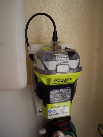 EPIRB mounted with V-Lock