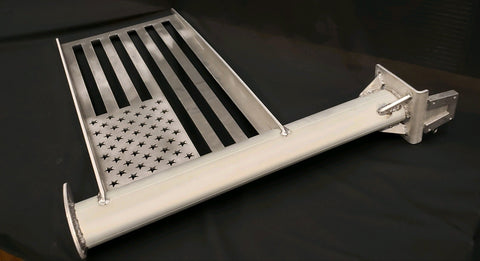 V-Lock durable aluminum flag