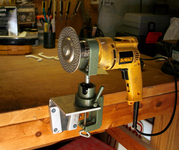 Attach a drill to your work bench