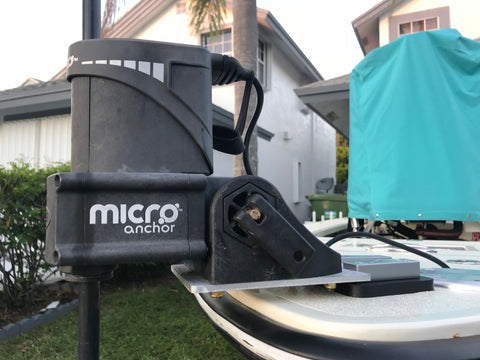 A great way to mount your PowerPole Micro Anchor to your boat.