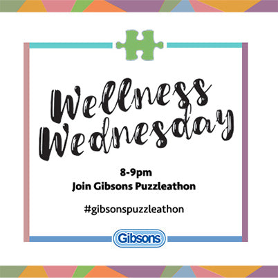 Gibsons Launch #WellnessWednesday Online Puzzleathon!