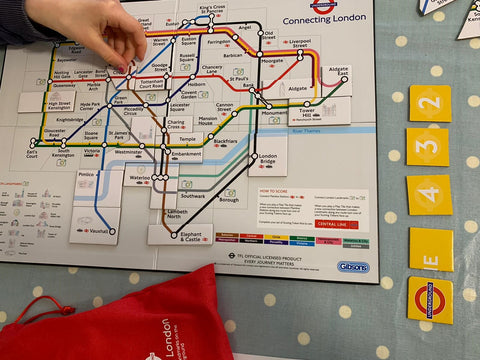 gameplay of gibsons new TFL connecting london strategy game