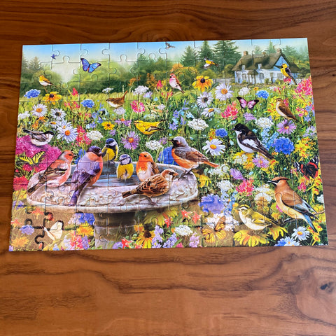 The completed image of 100XXL The Secret Garden
