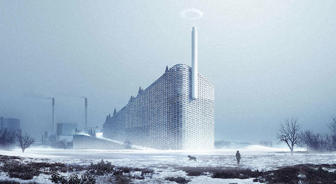 A concept rendering of the CopenHill, A Waste-to-Energy Plant