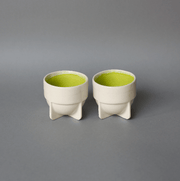 The Ware Innovations Cup Lime Green / 80x80x71mm Fin Cup (Set of 2)