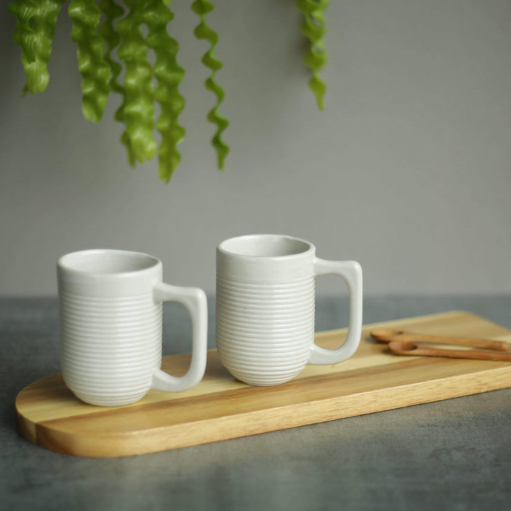 The Ware Innovations Mug Nude / 100X68X93mm Ripple Mug (Set of 2)