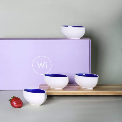 Ware Innovations Hosting Essentials Deep Blue Dessert Bowl Set