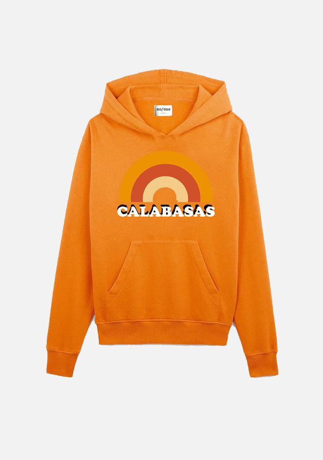 "sweat à capuche orange ""CALABASAS"" - NO/ONE Paris"