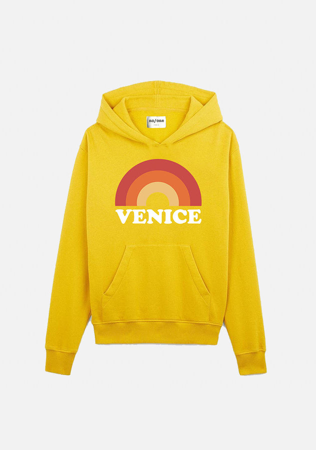 "sweat à capuche jaune ""VENICE"" - NO/ONE Paris"