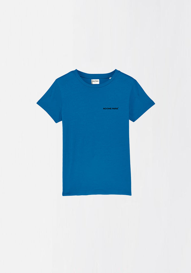 "MINI T-SHIRT ORGANIC COTON ""THE CAPITAL"" - NO/ONE Paris"