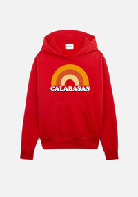 "sweat à capuche rouge ""CALABASAS"" - NO/ONE Paris"