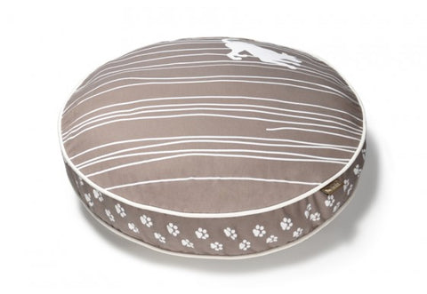 Dog on a Wire Eco Friendly Round Dog Bed - Almond