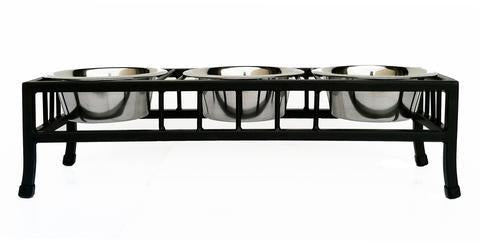 Baron Triple Raised Dog Diner by Pets Stop