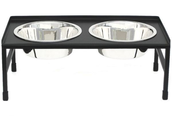 Tray Top Raised Double Diner by Pets Stop