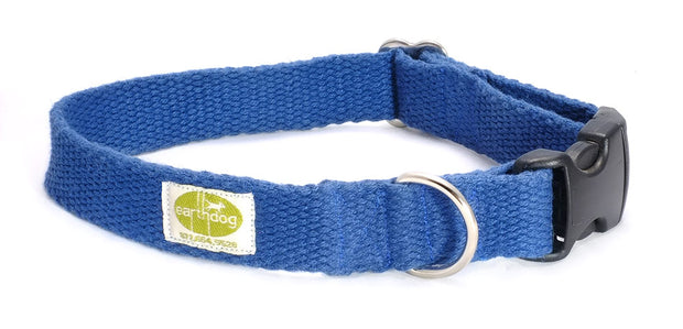 Solid Hemp Adjustable Dog Collars by Earthdog