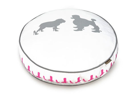 Heels and Boots Round Dog Bed by P.L.A.Y.