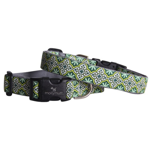 Leaves of Grass Bamboo Dog Collar