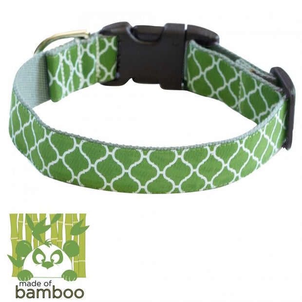 Secret Garden Bamboo Dog Collar by Molly Mutt