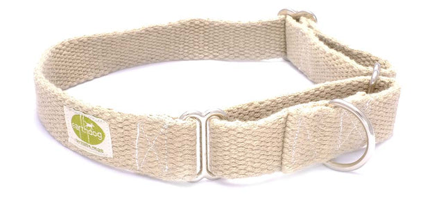 Solid Hemp Martingale Dog Collars by Earthdog