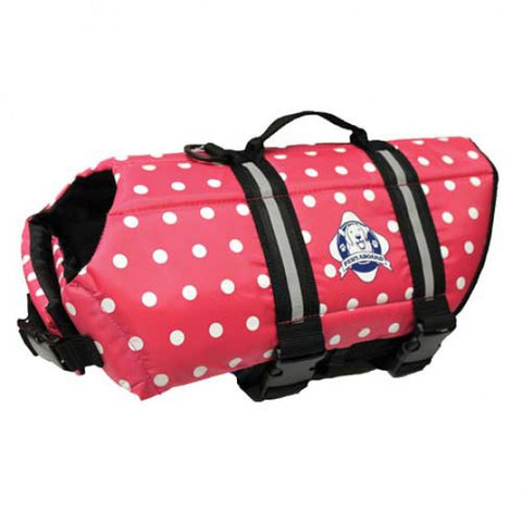 Pink Polka Dot Dog Life Jacket by Paws Aboard