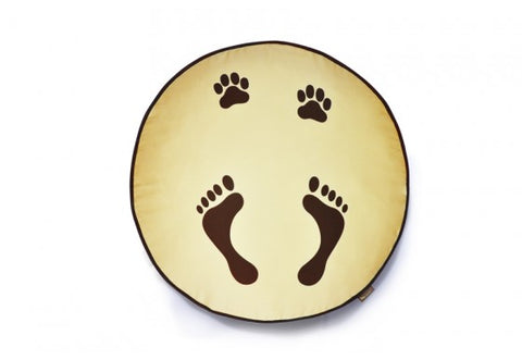 Footprints Round Dog Bed COVER ONLY by P.L.A.Y.