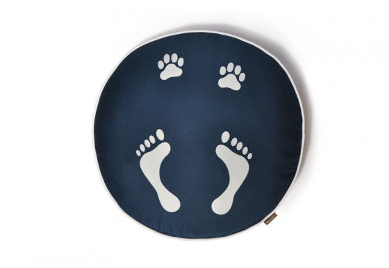 Footprints Round Dog Bed by P.L.A.Y.