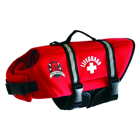 Designer Dog Life Jacket - Red Neoprene by Paws Aboard