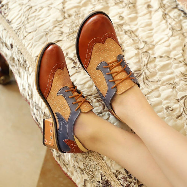 Vintage Handmade Style Genuine Leather Booties Loafer Shoes