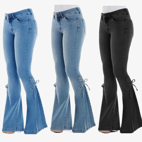 【Only $29.98!!】70s Hip Hugger Bell Bottoms Stretchy Jeans - A Super Life