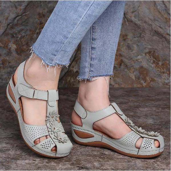 Vintage Handmade Flower Hook Loop Casual Women Fisherman Daily Comfy Wedges Sandals