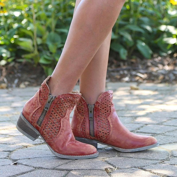 Chic Hollow Out Ankle Boots