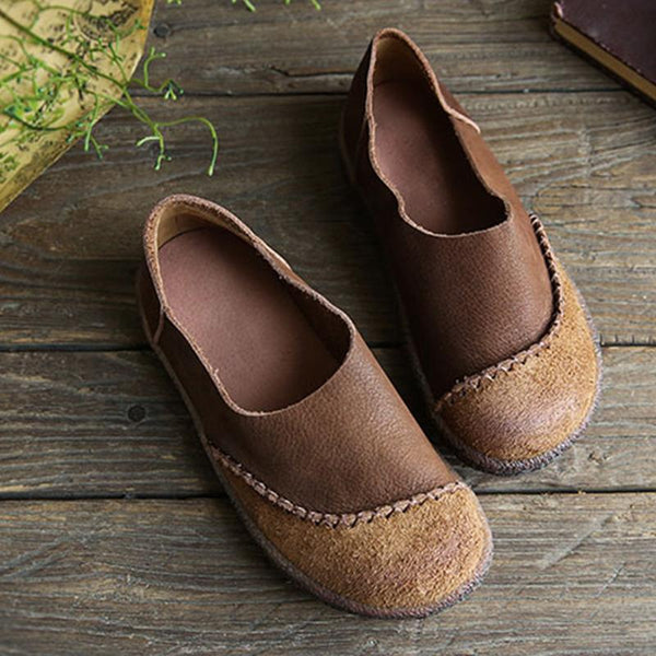 Round Toe Casual Retro Flat Shoes Casual Daily Loafers