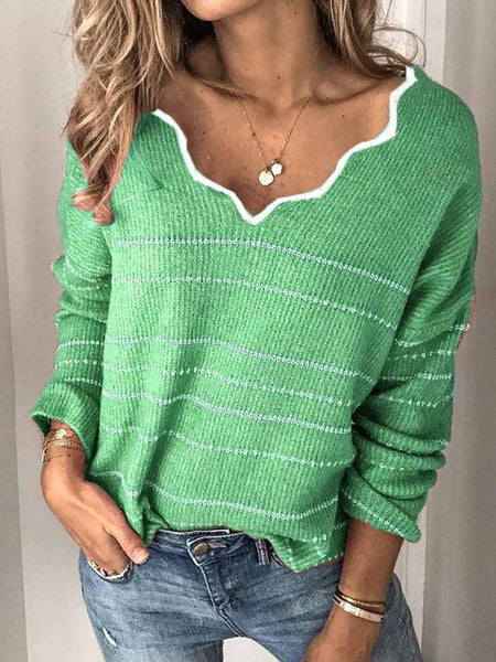 Long Sleeve Vintage Casual Sweater