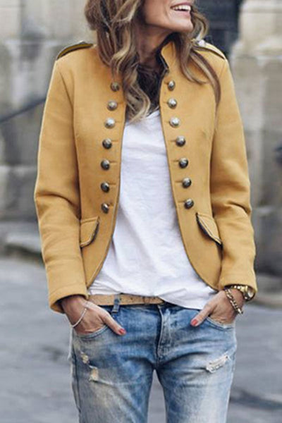 Buttons Design Jacket Coat (5 colors)