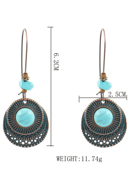 Retro Vintage Earring Turquoise Earring Dangle Earring Drop Jewelry Gift