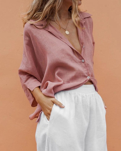 V Neck Perspective Sexy Swallowtail Shirt Blouse