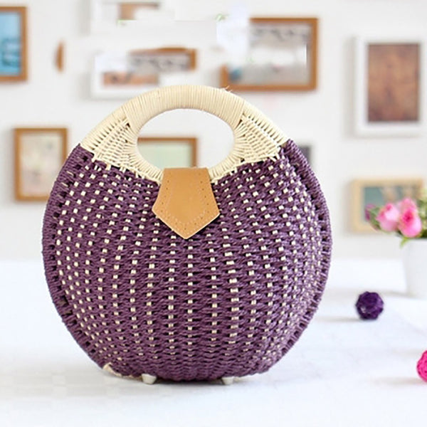 Women's Beach Tourism Retro Leisure Rattan Handbags