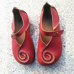 Summer Vintage Soft Red Daily Flats Casual Daily Loafers