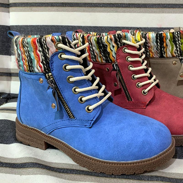 Vintage Side Zips Oversized Martin Boots Booties