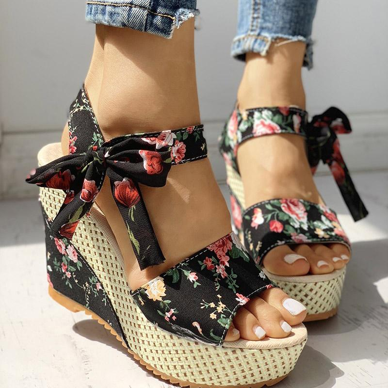 Women's Fashion Bowknot Design Wedge Sandals - Women's Fashion Online Shopping At Affordable Prices